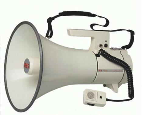 Megaphon SM - 040 S mit Sirenensignal.